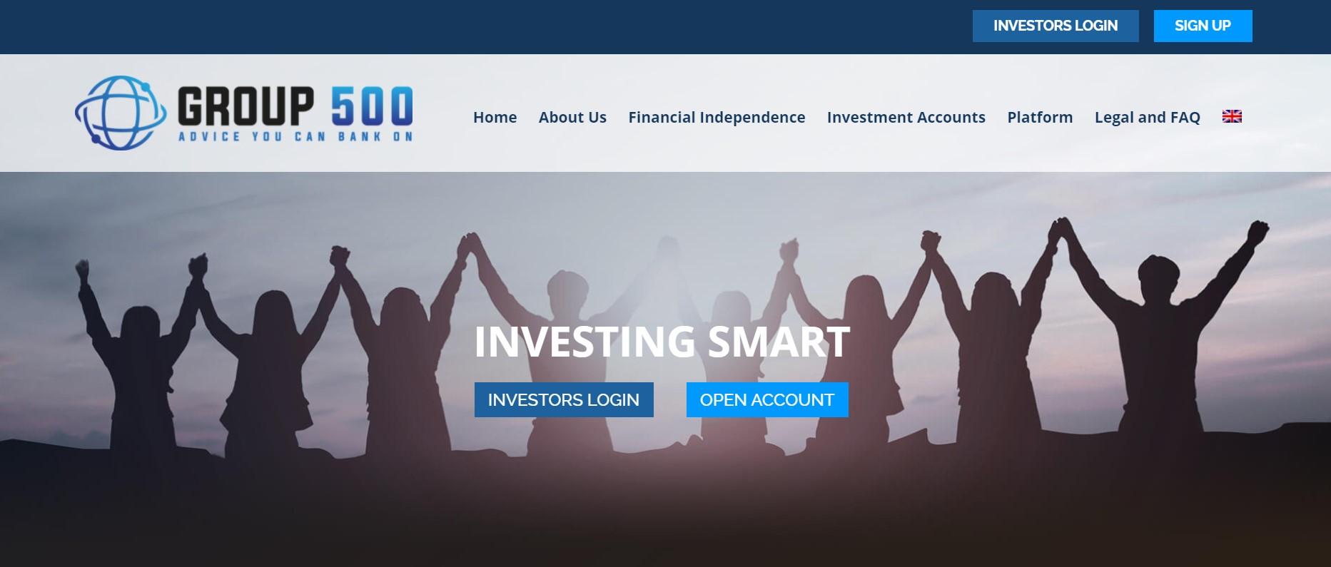 Group 500 website