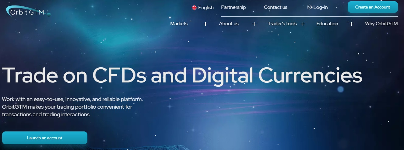 OrbitGTM Trade on CFDs and Digital Currencies